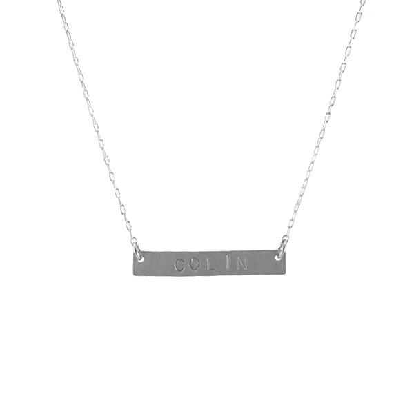 Nameplate Necklace Ss