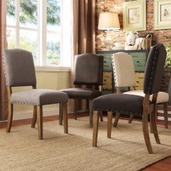 Nailhead Upholstered Dining Chair Low Lawn Premium Chairs Handy