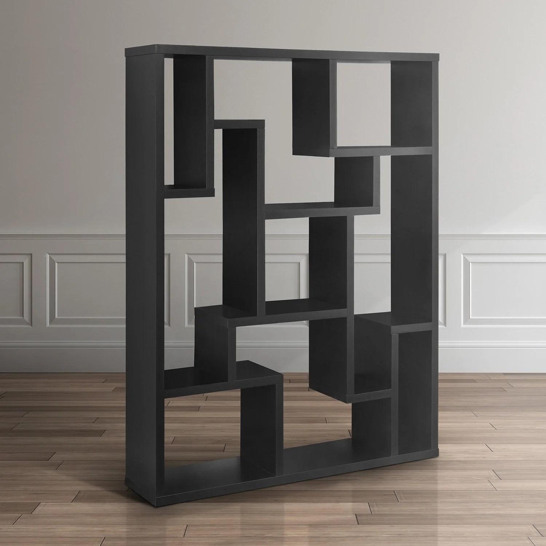 Black Bookcase Room Divider