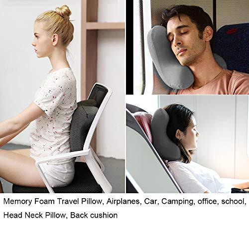 haobaimei travel neck pillow memory foam travel pillow for airplanes car camping office school head neck pillow back pillow travel accessories