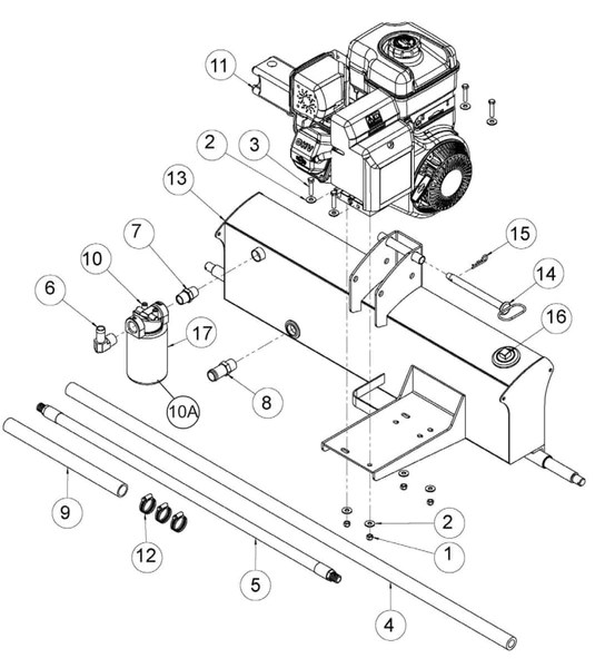 Speeco 28 Ton Log Splitter Parts Diagram 401628BB – Foards