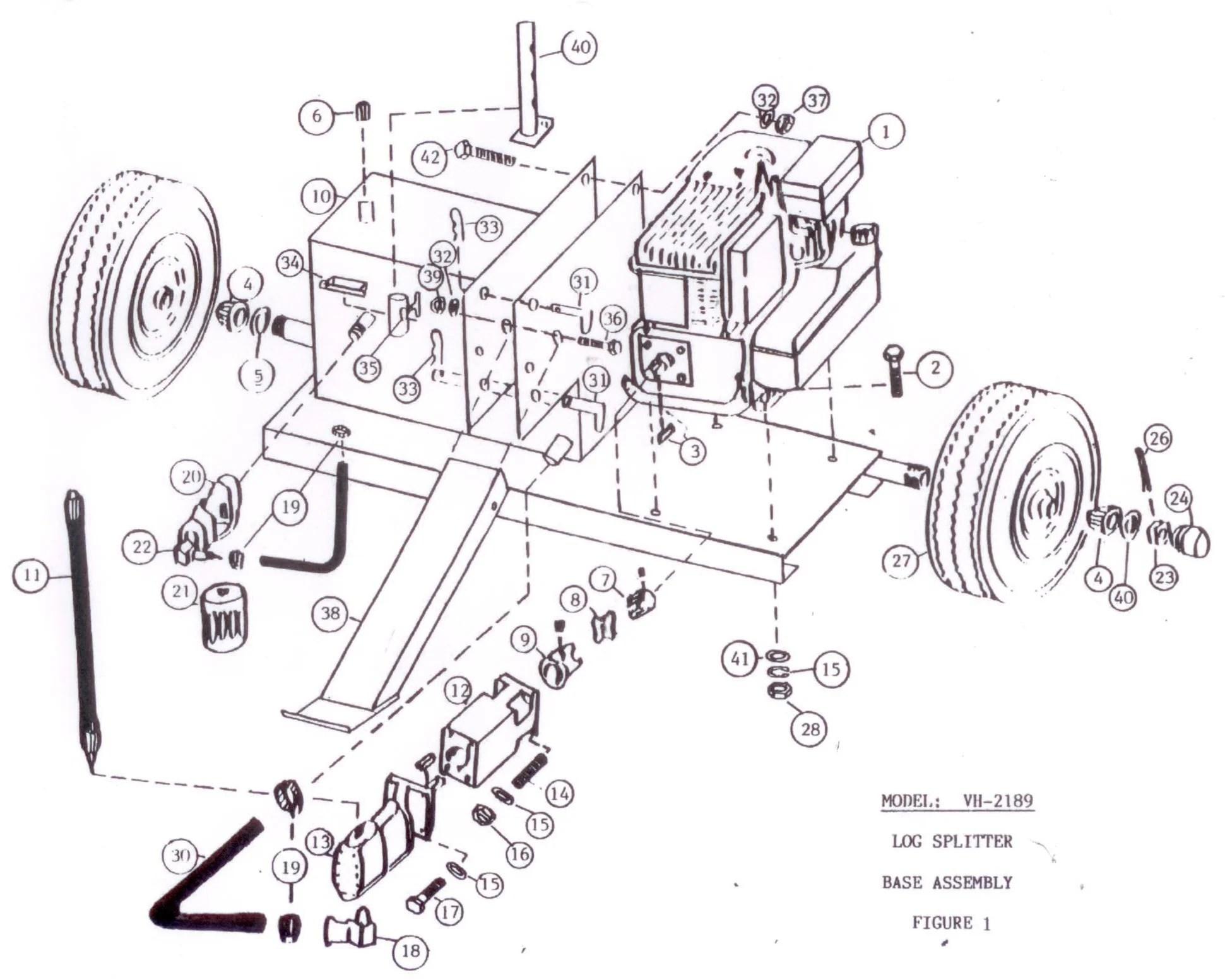 Brave 20-Ton Vertical/Horizontal Log Splitter Parts