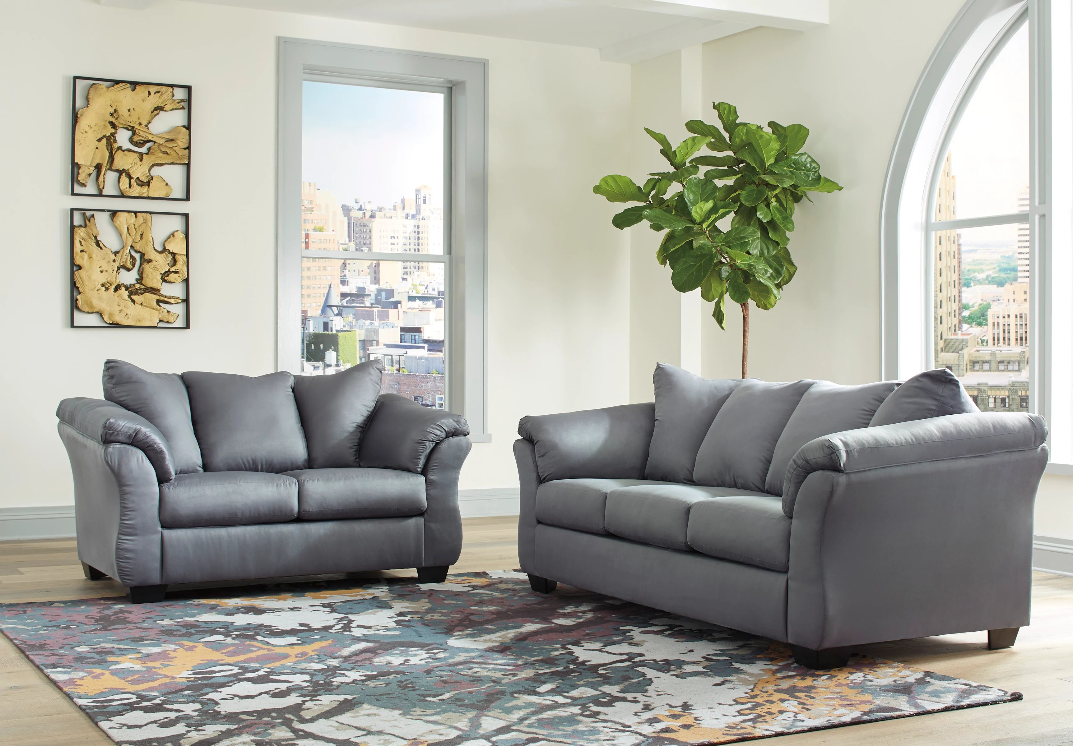 Special Darcy Steel Living Room Set 75009ashleyliving