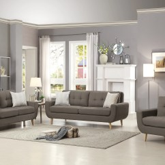 Gray Living Room Sets Design Ideas Brown Furniture Deryn Set 8327 Luna Bellaria Homestore