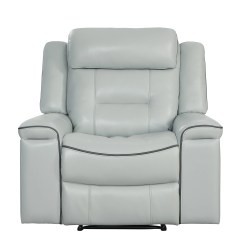 Lay Flat Recliner Chairs How To Make Chair Covers For Dining Room Darwan Light Gray Microfiber Reclining 9999 Luna Bellaria Furniture Homestore