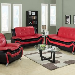 3 Piece Living Room Table Set Wood Clearance Tilda Red Luna Furniture Load Image Into Gallery Viewer