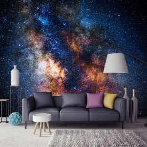 galaxy stars living painting creative mural paper stereoscopic paint bvm murals aliexpress dinding wow bedroom