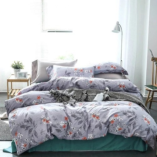 egyptian cotton floral bedding sets pastoral print duvet cover set