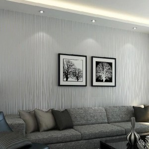 vertical solid striped modern wall living grey bedroom tv backdrop roll wallcovering