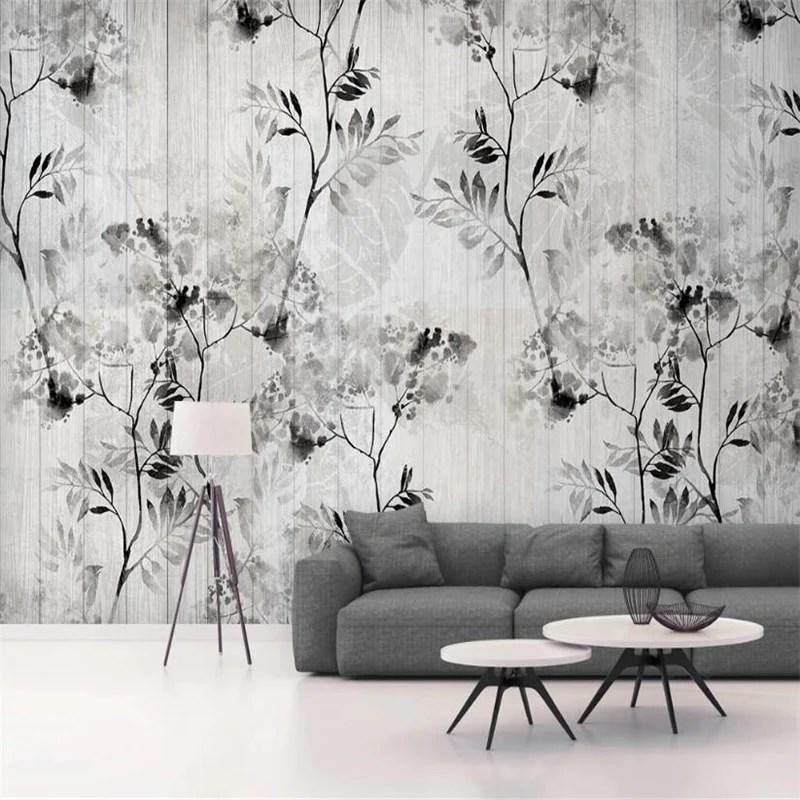 Il prezzo della carta da parati, compresa la fornitura e la posa, varia dai € 15 / m² a € 35 / m². Custom Wallpaper Mural Nordic Black White Leaf Wood Effect Bvm Home