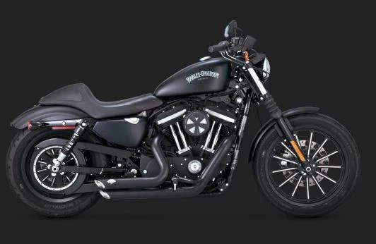 vance hines shortshots staggered full exhaust system for 2014 2017 harley davidson sportster