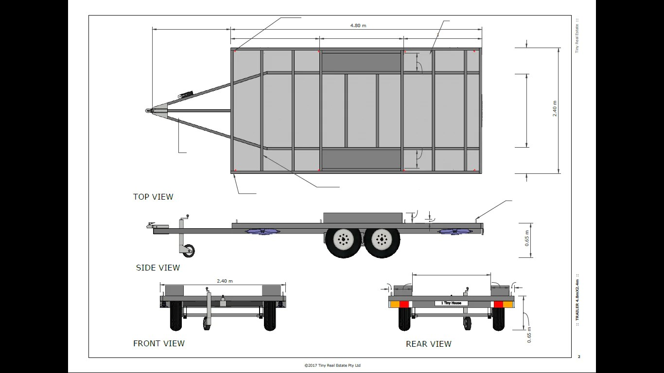 4 8 Metre Tiny House Trailer Plans Tiny Home Plans