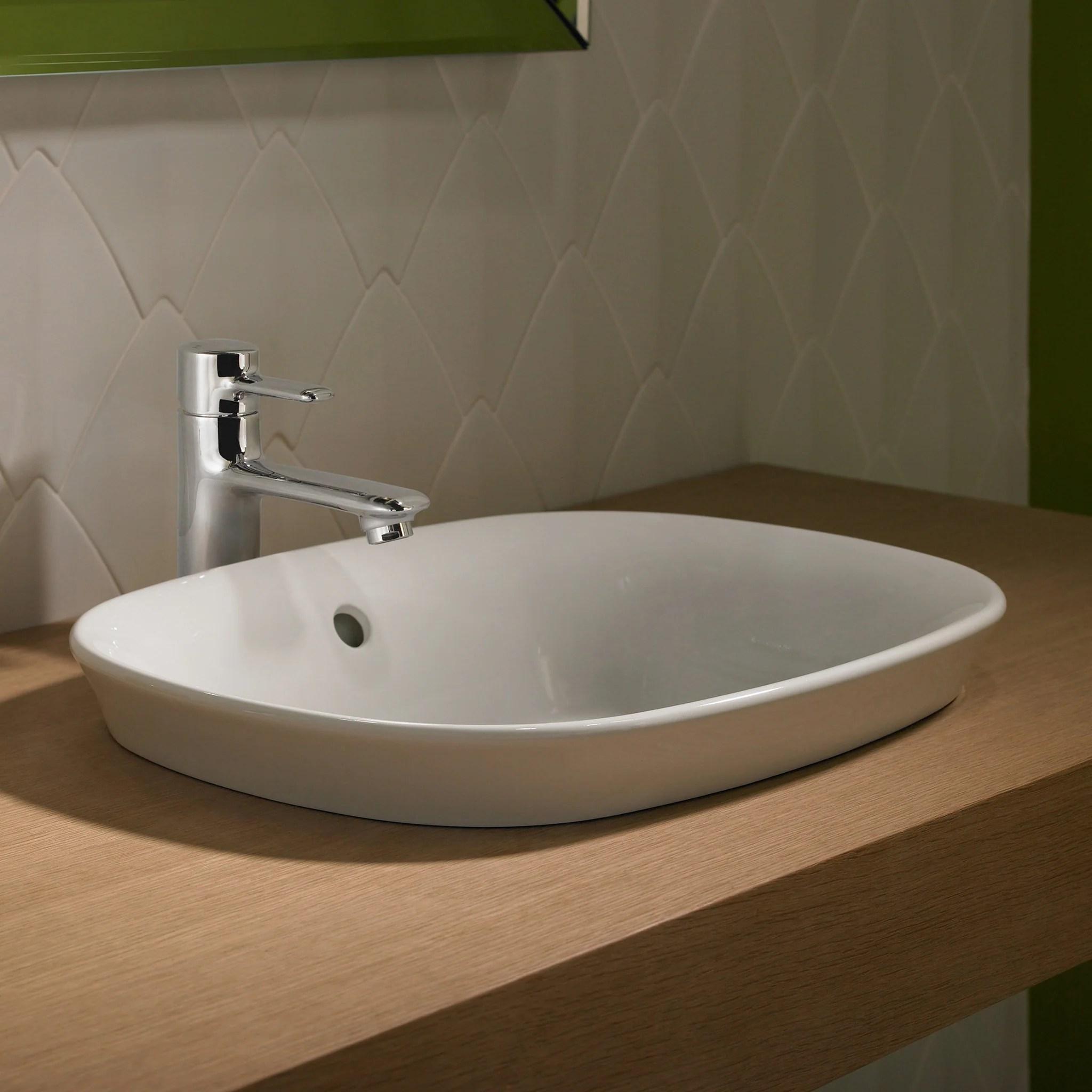 toto maris oval semi recessed vessel bathroom sink cotton white sku lt480g 01 sku lt480g 01