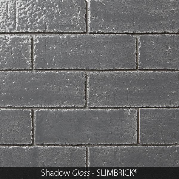 shadow gray gloss glazed slimbrick thin brick tile