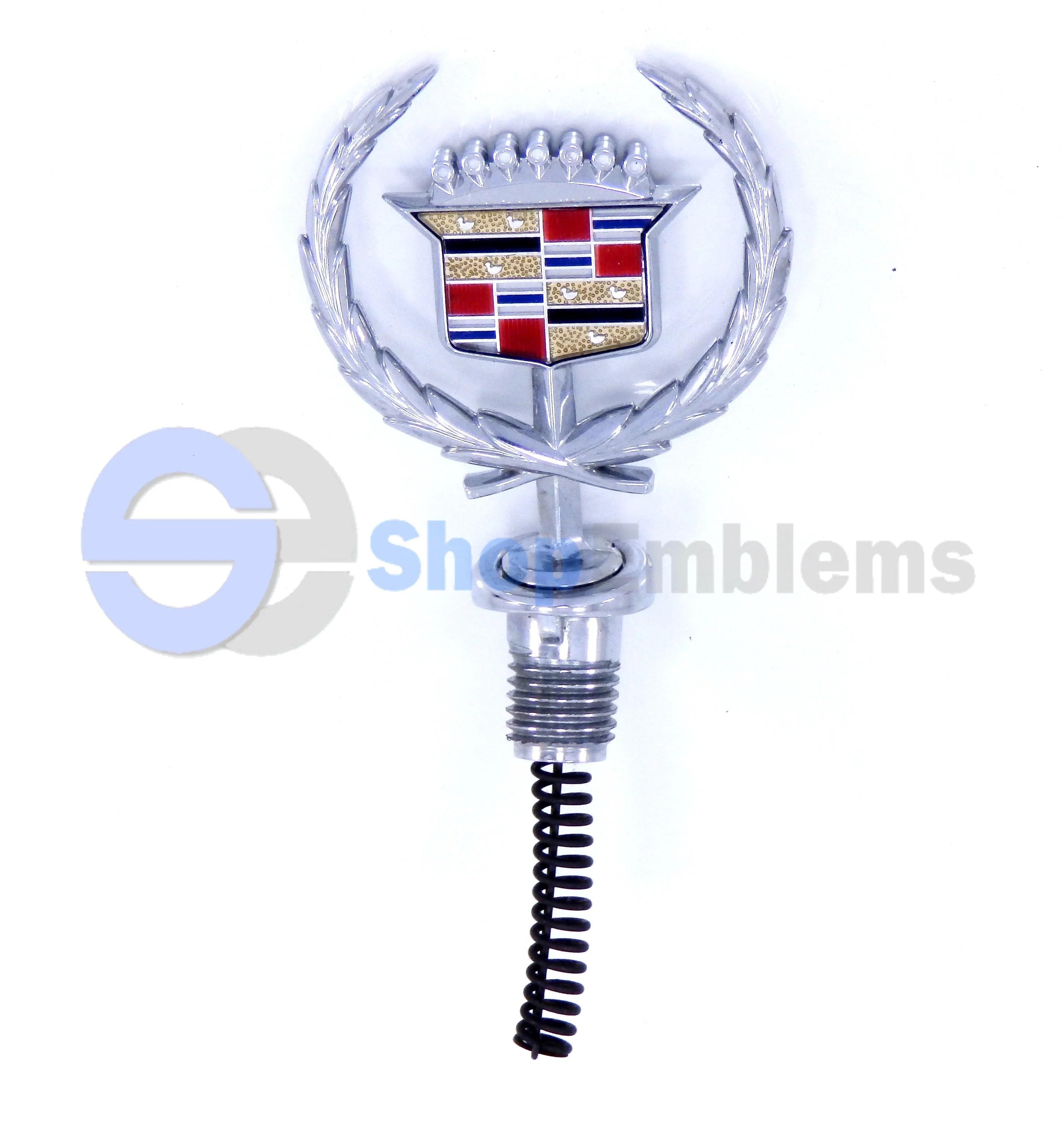 medium resolution of 89 90 91 92 93 cadillac fleetwood deville hood ornament logo emblem badge oem nameplate crest