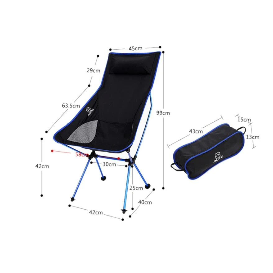 lightweight folding chairs hiking wooden high chair pads portable outdoor for fishing camping