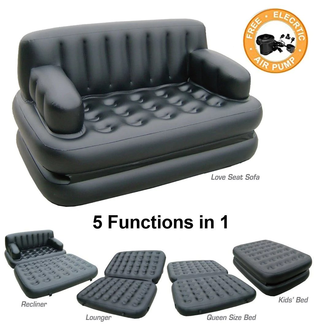 bestway inflatable air sofa couch bed kivik corner uk 5 in 1 price india small house interior