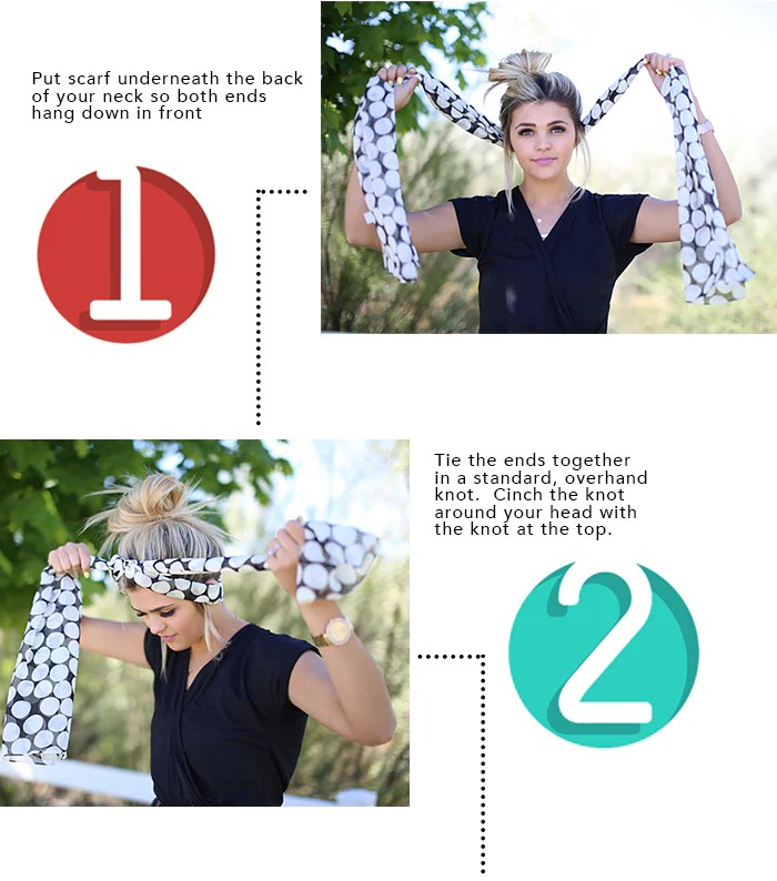How To Tie A Head Scarf 1 2
