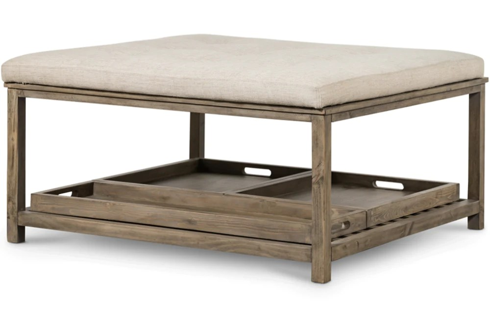 wendel upholstered square coffee table