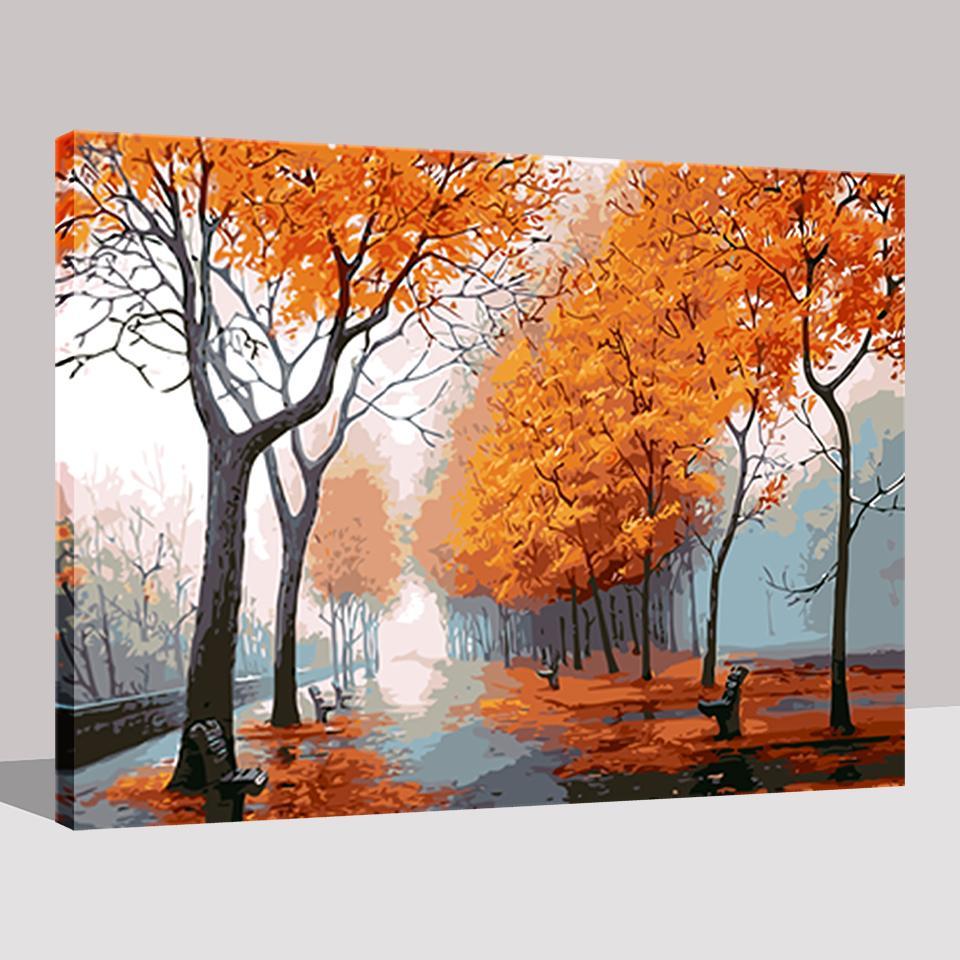 romantic autumn trees diy