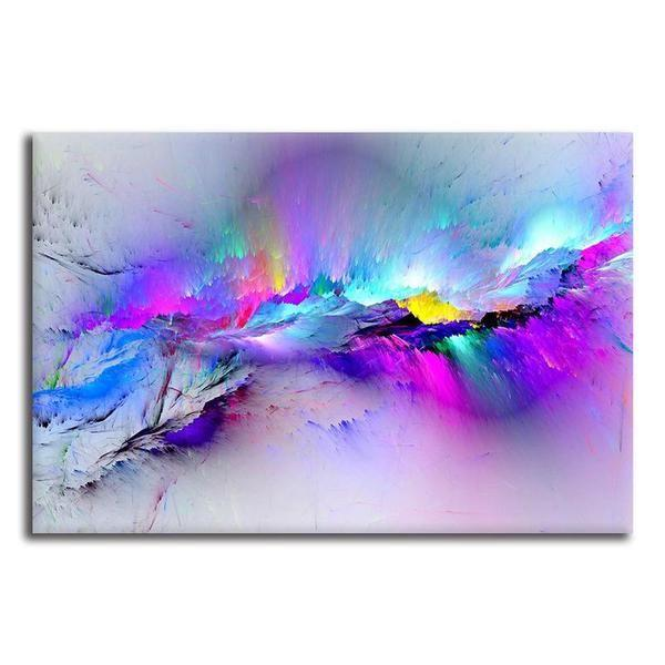 bright colorful abstract canvas