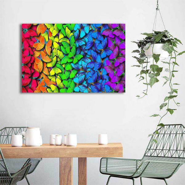 bright colorful butterflies canvas