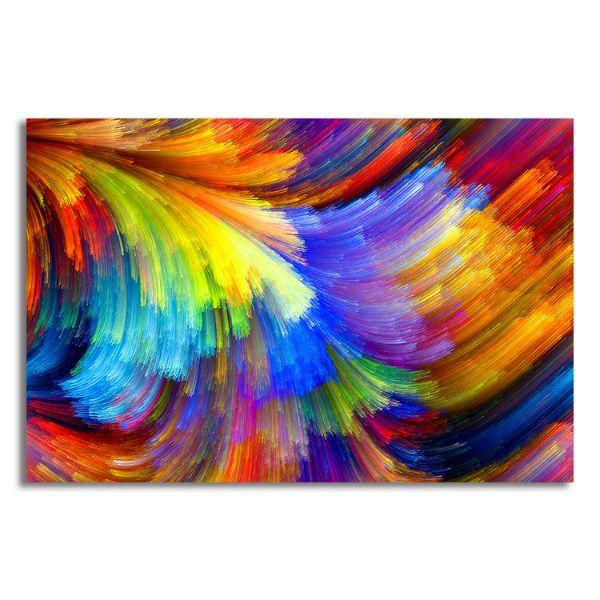 bright colors abstract canvas