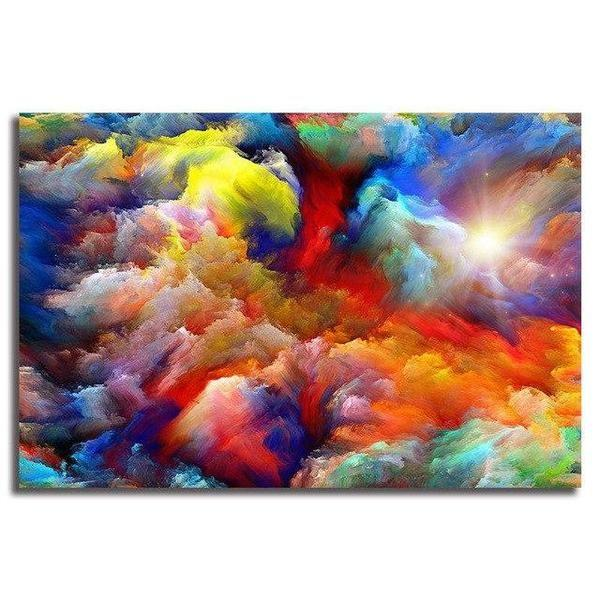 bright ethereal abstract canvas