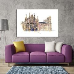 Contemporary Artwork Living Room Raymour And Flanigan Rooms Get Notre Dame Canvas Wall Art Online