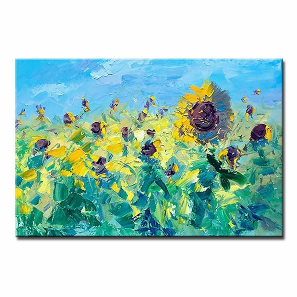 hand painted abstract sunflower