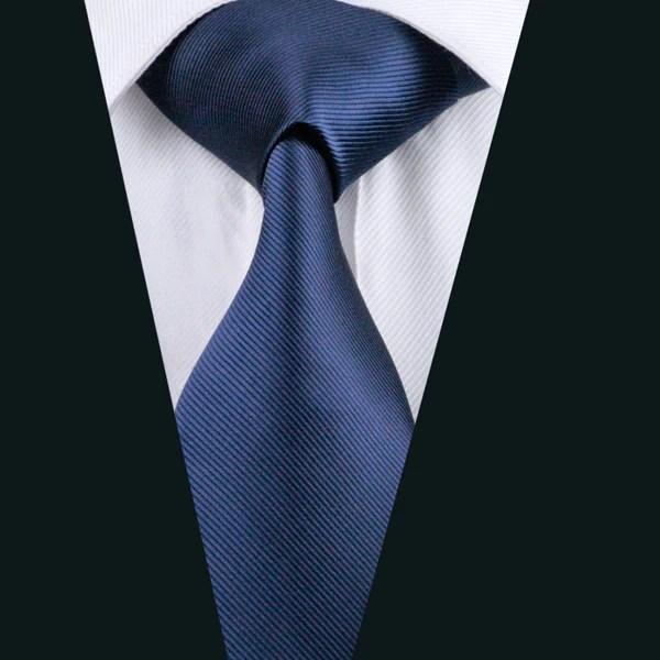 Blue Striped Tie Set  DiBanGuStore