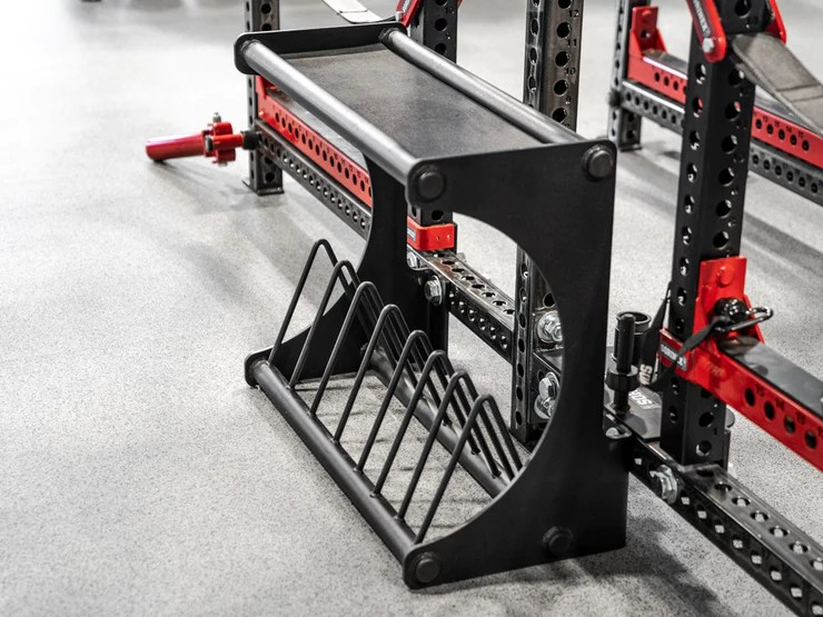 bumper wing storage with shelf sorinex exercise equipment