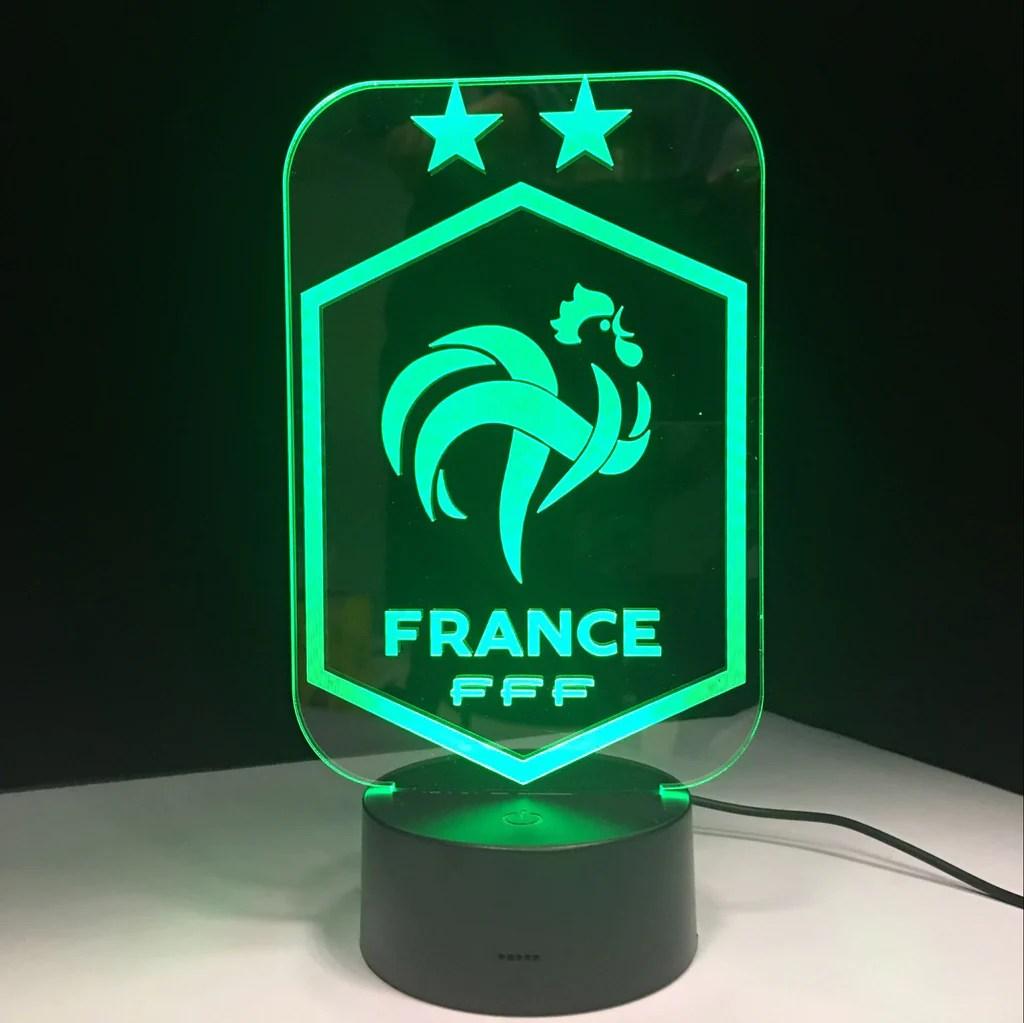 Equipe de France FFF Lampe optique LED CHAMPIONS   Ma