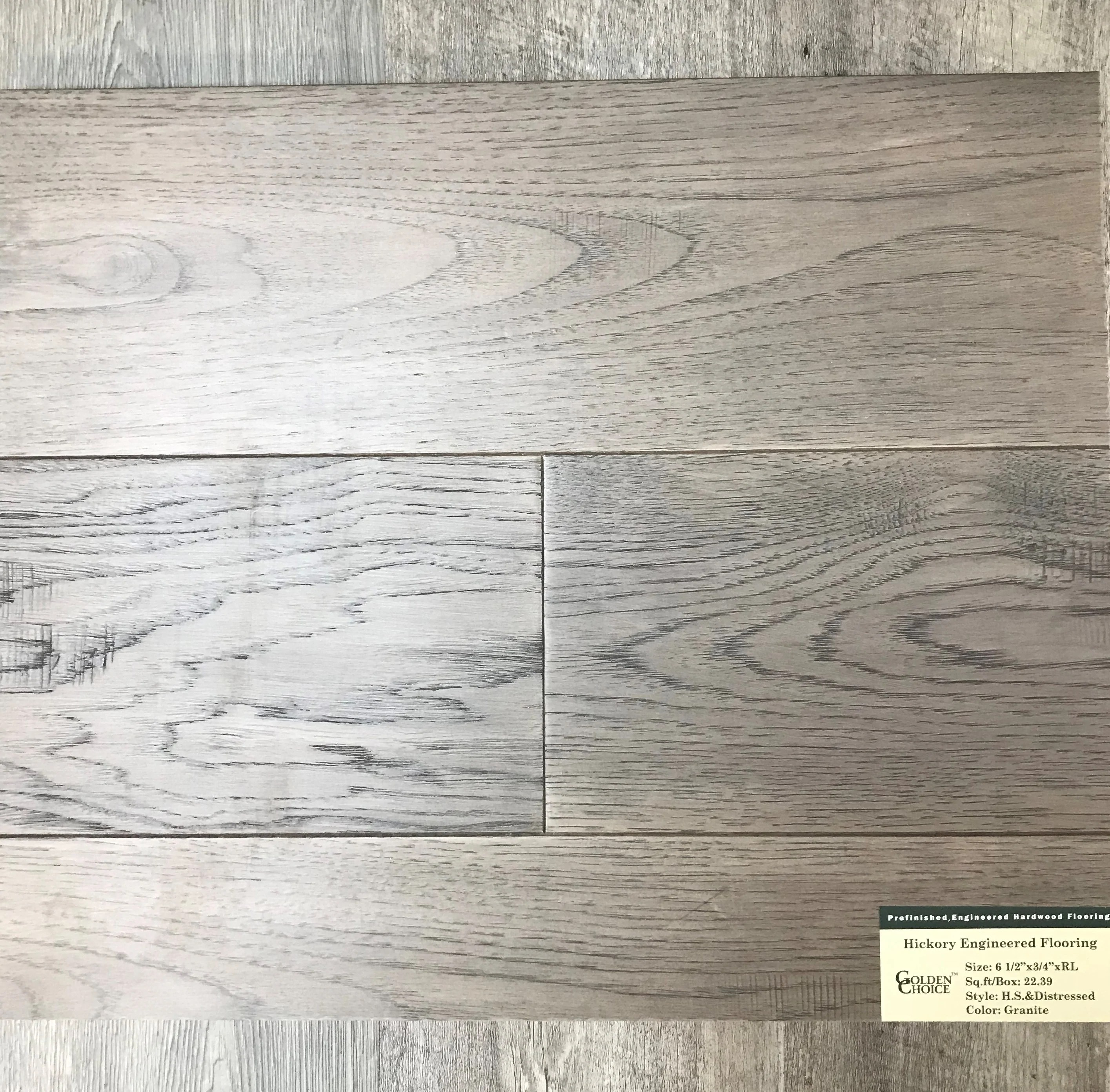 6 1 2 x 3 4 engineered handscraped distressed hickory