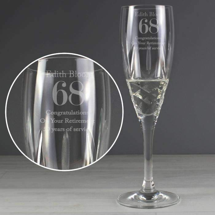 personalised crystal cut champagne