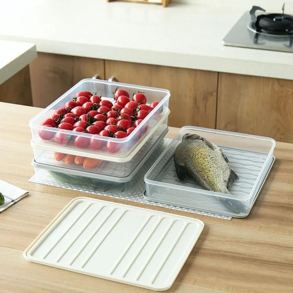 Bac De Rangement Pour Refrigerateur A Empiler Boite Plastique 28x2 Cuisine Au Top