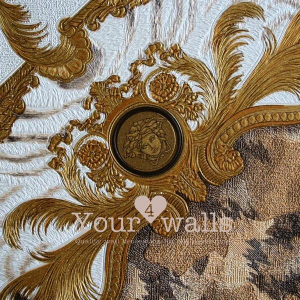 Versace Animal Plaid Designer Animal Skin Effect Wallpaper In Gold Your 4 Walls
