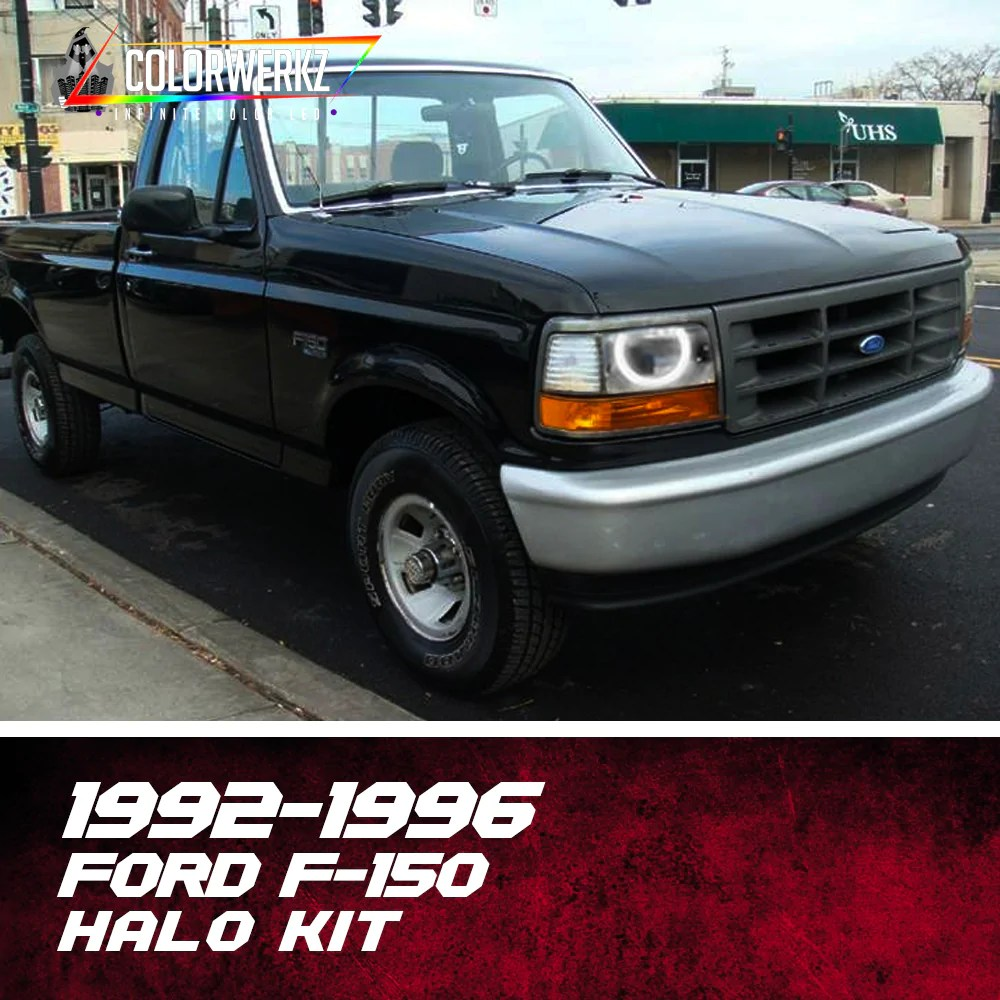 1992 1996 ford f 150 halo kit [ 1000 x 1000 Pixel ]