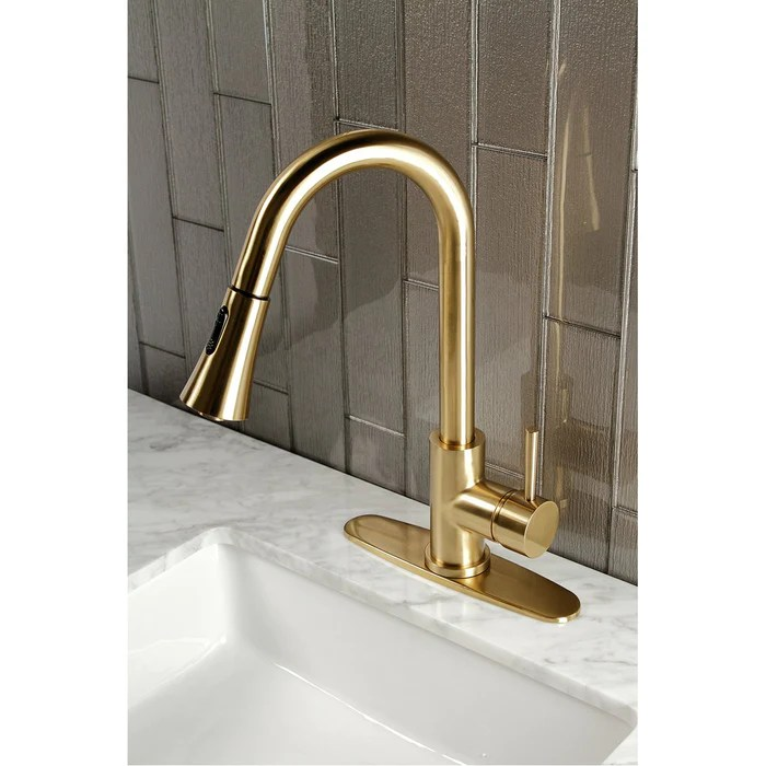 kingston brass gourmetier concord single handle pull down kitchen fauc