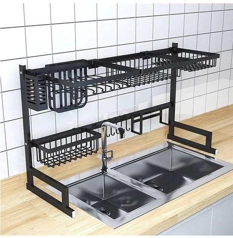 luxrack customizable over sink dish drying rack new design