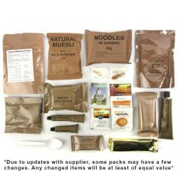 ration army packs pack rations 24hr kit bag nz kj hr quick