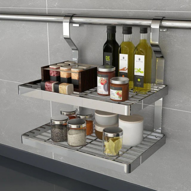 metal kitchen rack pull out faucet beautiful stainless steel diy shelf farm to coast