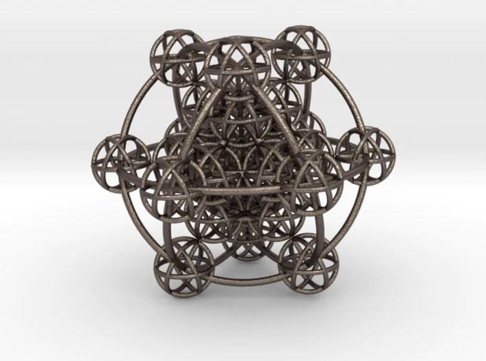 3D Metatrons Sphere: based on Metatrons Cube - plus magnets - 3D Printed  Model – Sacred Geometrical