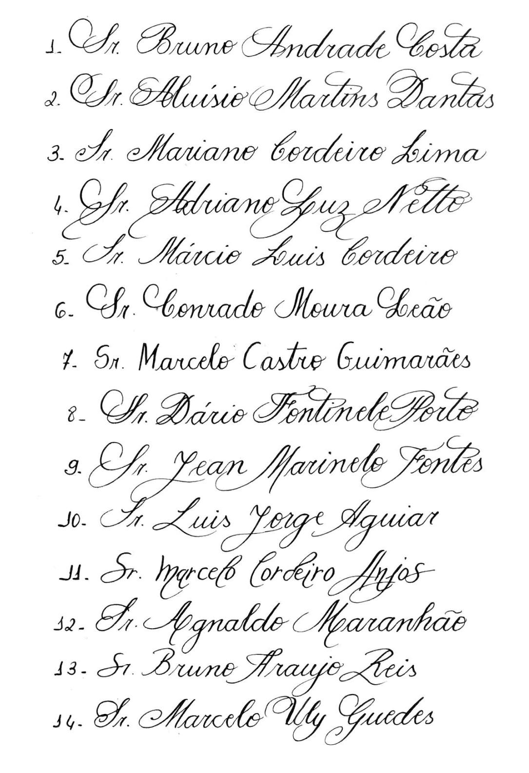 Alfabeto Caligrafia Para Convites Caligrafia Manual