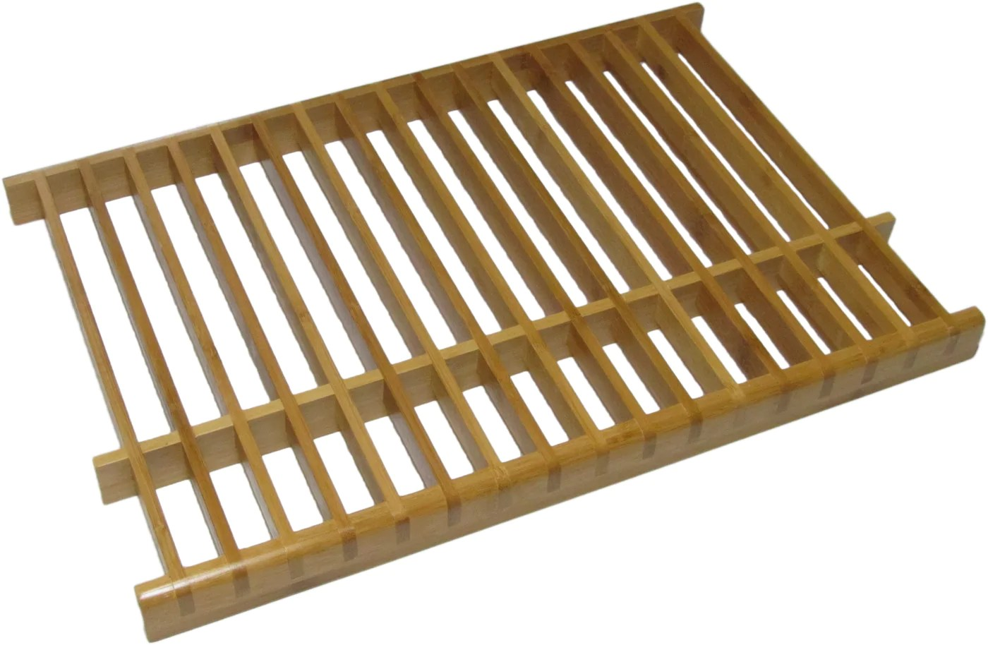 kitchenedge bamboo over the sink dish drying rack
