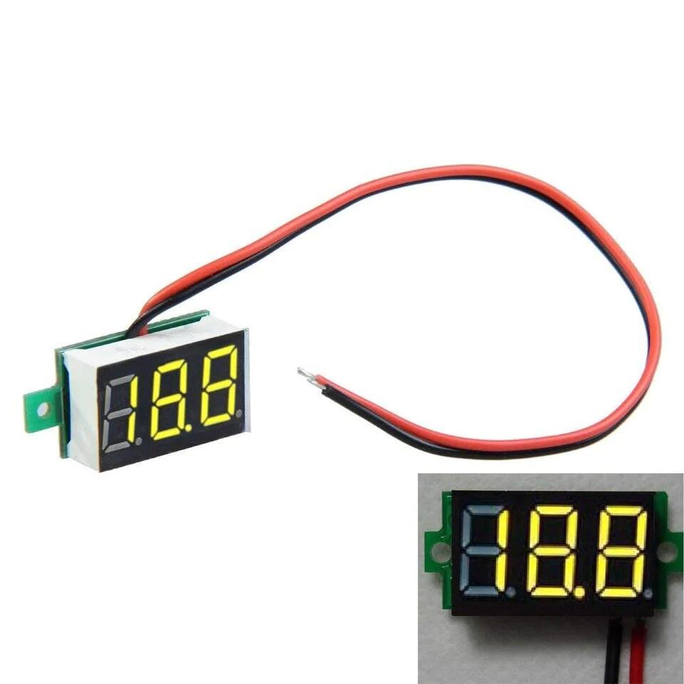 hight resolution of mini 0 36 digital voltmeter dc 4 7 32v 2 wires vehicles motor voltage panel meter led