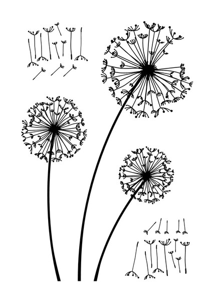 dandelion wall decal simple