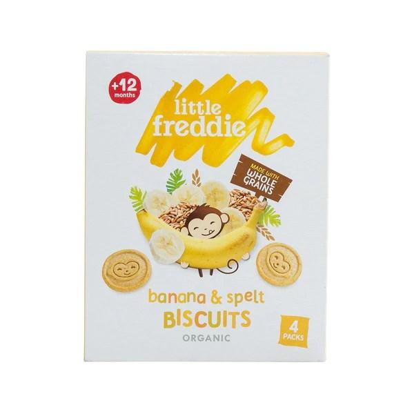 LITTLE FREDDIE Organic Banana & Spelt Biscuits (12+ Months) (80g) – city'super