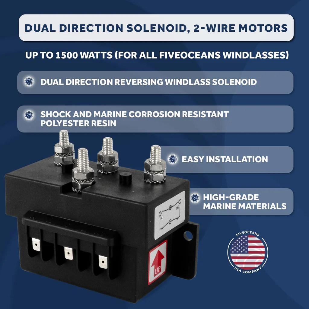 dual direction windlass solenoid 2 wire motors 12v five oceans [ 1024 x 1024 Pixel ]
