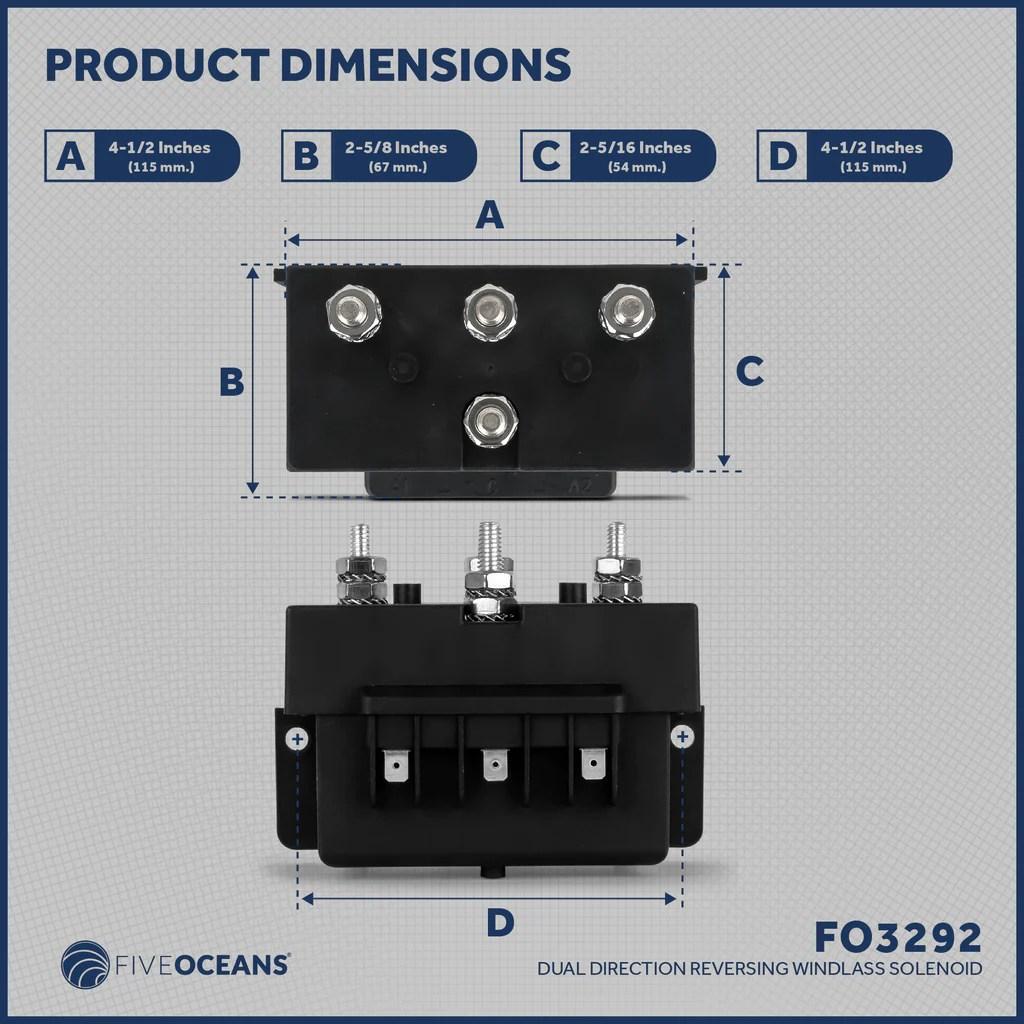 medium resolution of dual direction windlass solenoid 2 wire motors 12v five oceans